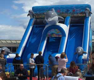Inflatable Slide at The Lido